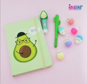Cuaderno aguacate nerd - BYNOVALUNA