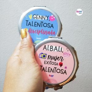 Espejo personalizado redondo - BYNOVALUNA