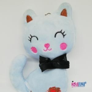 Llavero gato gris - BYNOVALUNA