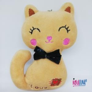 Llavero gato beige - BYNOVALUNA