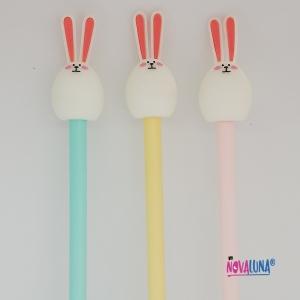 Esfero conejo pastel amarillo - BYNOVALUNA