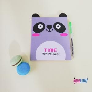 Libreta mini panda + esfero - BYNOVALUNA