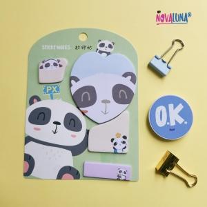 Notas adhesivas panda green - BYNOVALUNA
