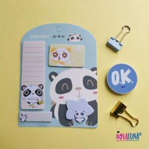 Notas adhesivas panda blue - BYNOVALUNA