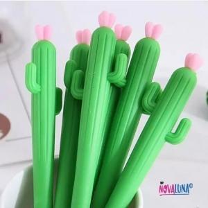 Esfero cactus rosa - BYNOVALUNA