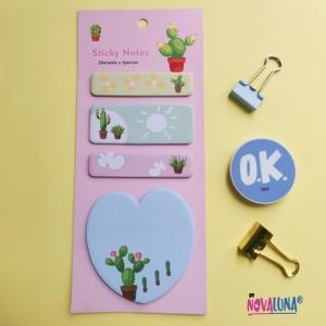 Notas adhesivas cactus corazón - BYNOVALUNA