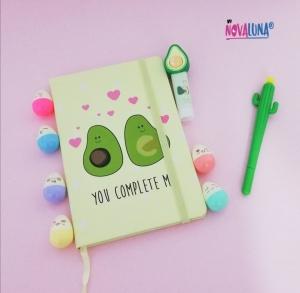 Cuaderno aguacate love - BYNOVALUNA