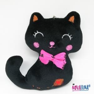 Llavero gato negro - BYNOVALUNA